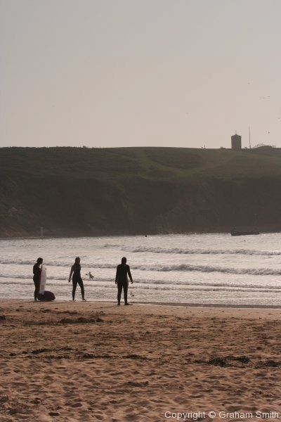 Testing the water at Bude beach